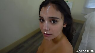 POV blowjob leads step sis in all directions enjoys her first facial
