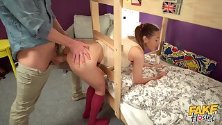 Dorm courtyard dicking for delightful youngster Sybil Kailena