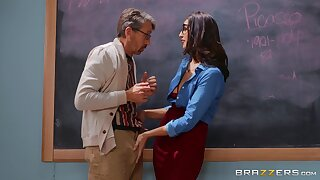 Determined Bella Rolland gets what she needs to along to classroom