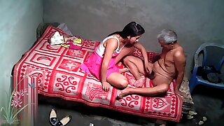 Asian Grandpa With Sexy Prostitute