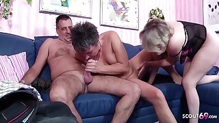 German Ancient Couple First Mff Threesome With Unfamiliar Mature