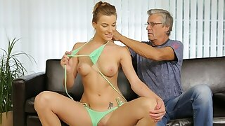 DADDY4K. Old guy nicely fucks sons gorgeous girlfriend