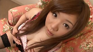 Asian teen knows how to present tender nipples and unshaved twat
