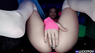 Munificence closeup shows slutty whore throating and going to bed