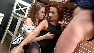 Mature shows stepdaughter proper horseshit sharing twchniques
